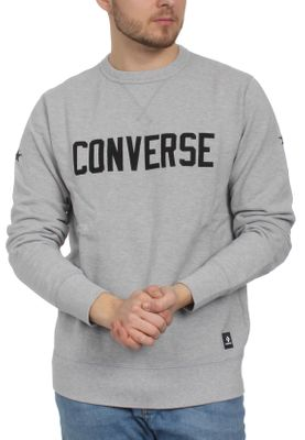 Converse Herren Sweater ESSENTIAL GRAPHIC CREW 10005811 022 Grey – Bild 0
