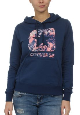 Converse Damen Sweater GRAPHIC BOXSTAR PULLOVER HOODIE 10006631 426 Navy – Bild 0