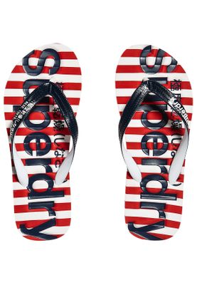 Superdry Damen Zehentrenner EVA STRIPE Red Stripe Navy Optic – Bild 0