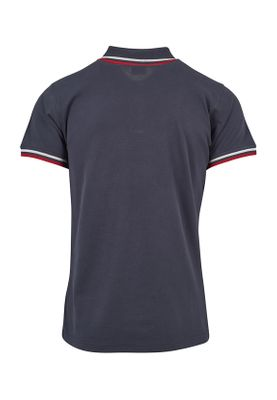 Urban Classics Herren Double Stripe Poloshirt TB2063 Navy White Firered – Bild 1