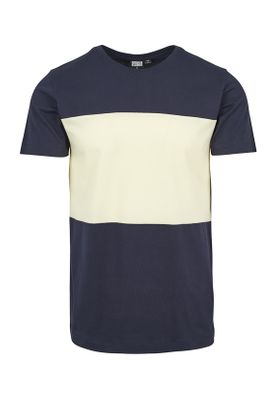 Urban Classics Herren Contrast Panel Tee TB2057 Navy Powderyellow – Bild 0