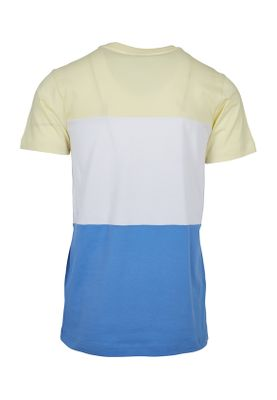 Urban Classics Herren Color Block Tee TB2058 Horizonblue Powderyellow White – Bild 1