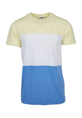 Urban Classics Herren Color Block Tee TB2058 Horizonblue Powderyellow White – Bild 0