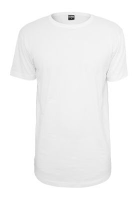 Urban Classics Herren Shaped Long Tee TB638 White – Bild 0