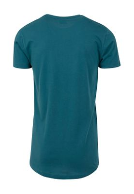 Urban Classics Herren Shaped Long Tee TB638 Teal – Bild 1