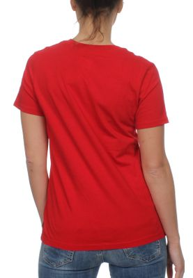 Converse Damen T-Shirt CORE CP CREW 10001124 603 Red Rot – Bild 1