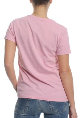 Converse Damen T-Shirt CORE TRIBLEND TPU VNECK TEE 10006443 523 Light Orchid Heather – Bild 1