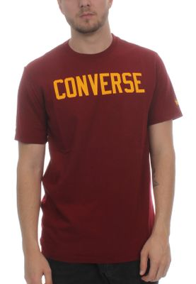 Converse Herren T-Shirt ESSENTIALS GRAPHIC TEE 10005814 638 Team Red Maroon – Bild 0