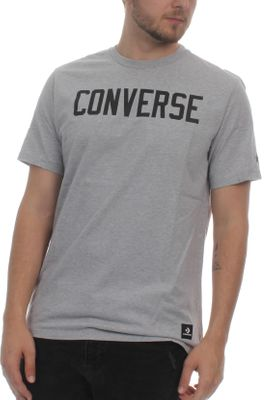 Converse Herren T-Shirt ESSENTIALS GRAPHIC TEE 10005814 022 Light Grey Heather Hellgrau – Bild 0