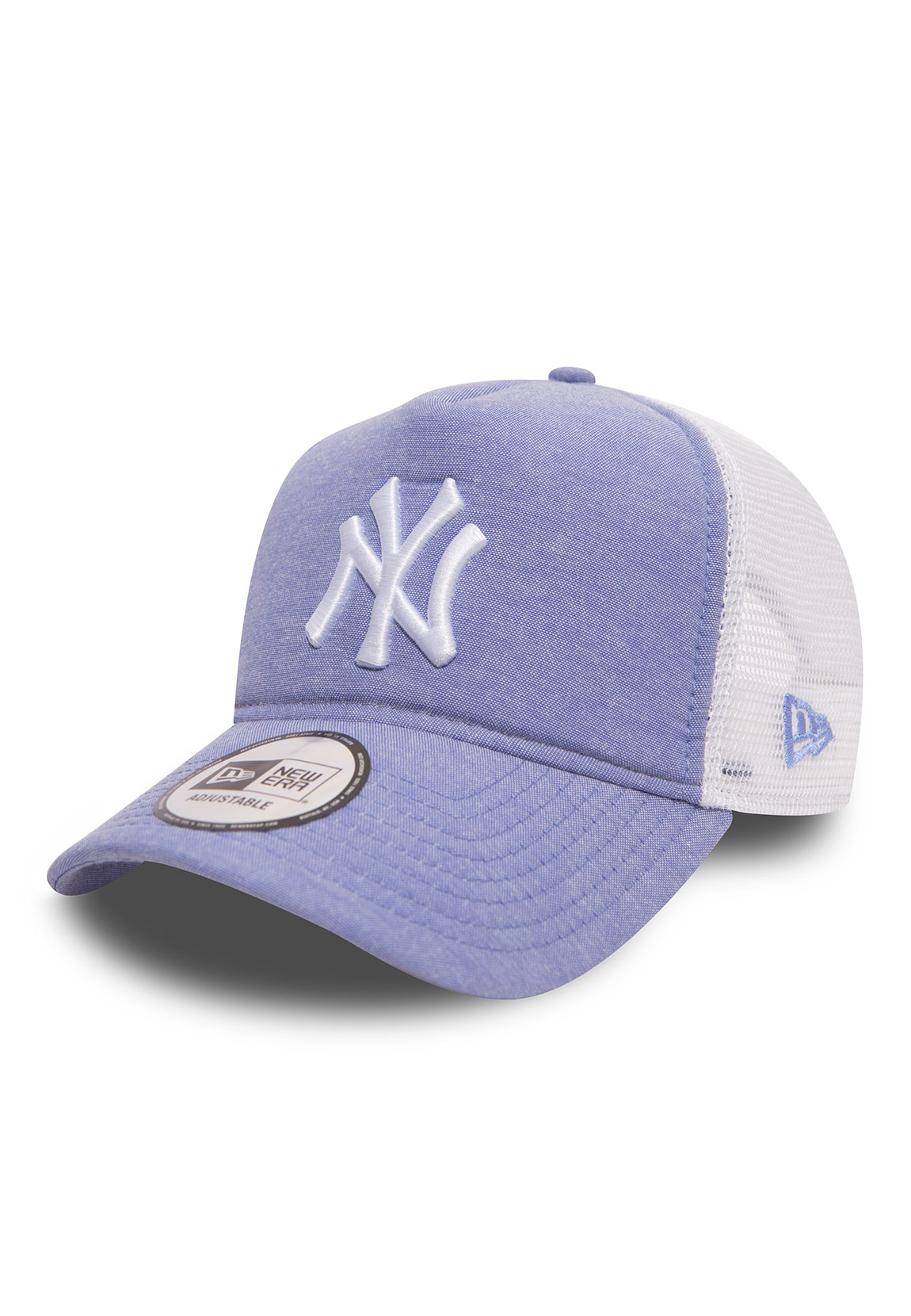 Details about New Era MLB Oxfrd Trucker Ladies Adjustable Cap Ny Yankees  Light Blue b849ac21e19