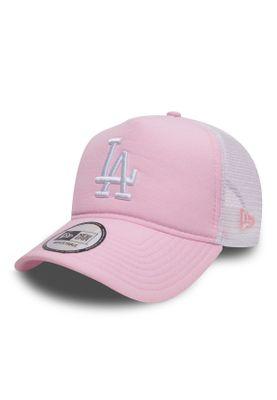 New Era MLB Oxfrd Trucker Damen Adjustable Cap LA DODGERS Rosa