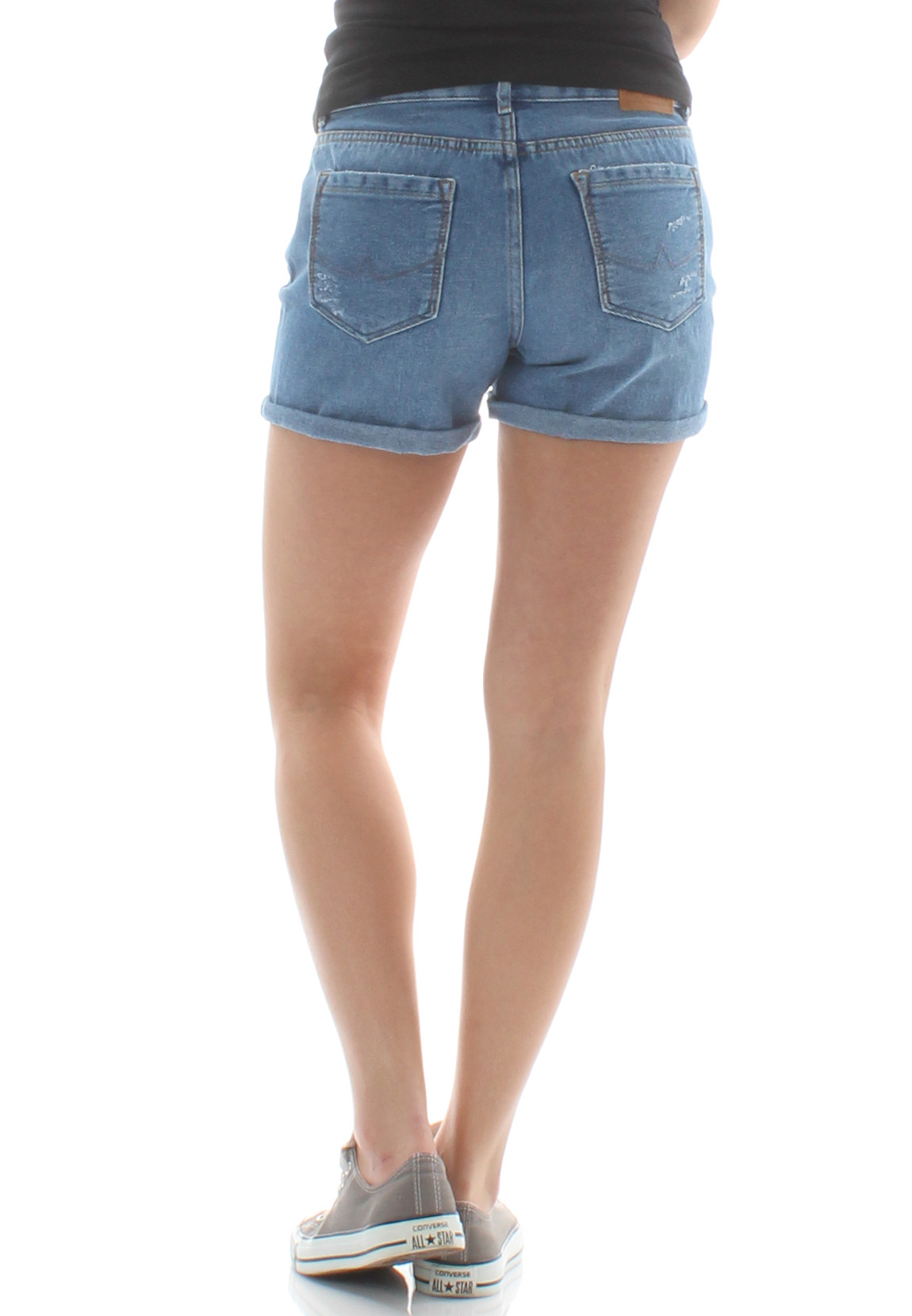 Superdry Shorts Damen STEPH BOYFRIEND SHORT Dive Blue