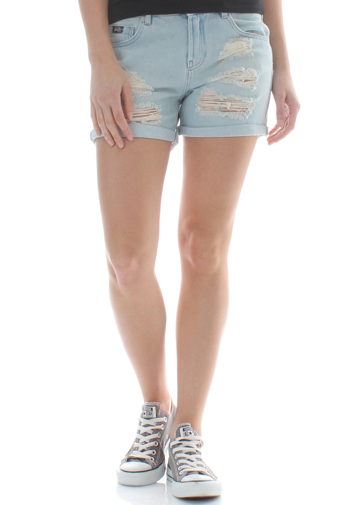 Superdry Shorts Women Steph Boyfriend Shorts Holiday Blue   eBay 39ddba9c4e0e