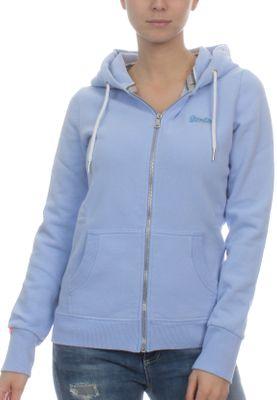 Superdry Zipper Damen ORANGE LABEL PRIMARY ZIPHOOD Frosty Blue – Bild 0