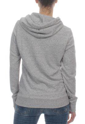 Superdry Sweater Damen VINTAGE LOGO LITE STNE ENTRY HOOD Palm Grey Marl – Bild 1