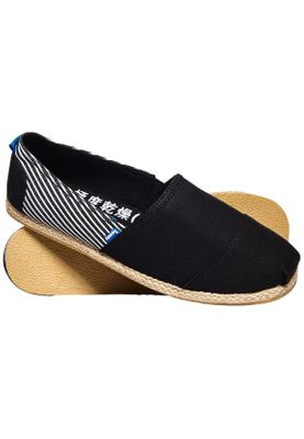 Superdry Herren Espadrilles JETSTREAM Black Stripe  – Bild 0