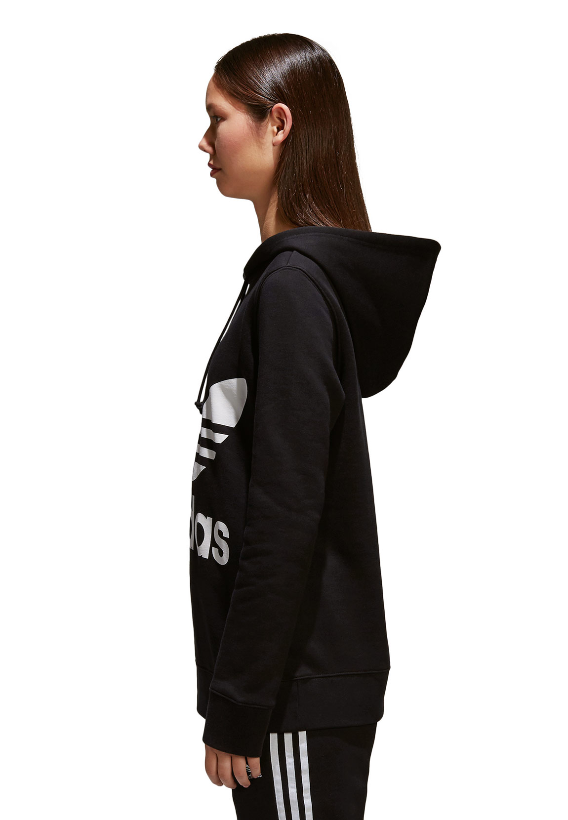 adidas originals sweater damen trefoil hoodie ce2408. Black Bedroom Furniture Sets. Home Design Ideas