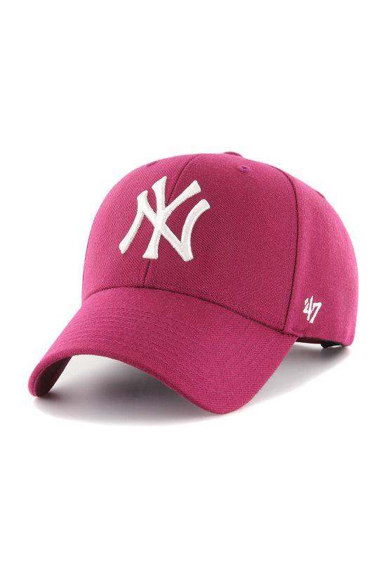 47 Brand MVP Snapback NY YANKEES MVPSP17WBP-GX Pink  – Bild 0