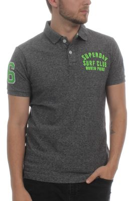Superdry Herren Polo CLASSIC SS SUPERSTATE Plate Grey Grindle  – Bild 0
