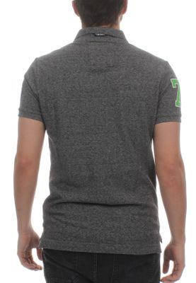 Superdry Herren Polo CLASSIC SS SUPERSTATE Plate Grey Grindle  – Bild 1