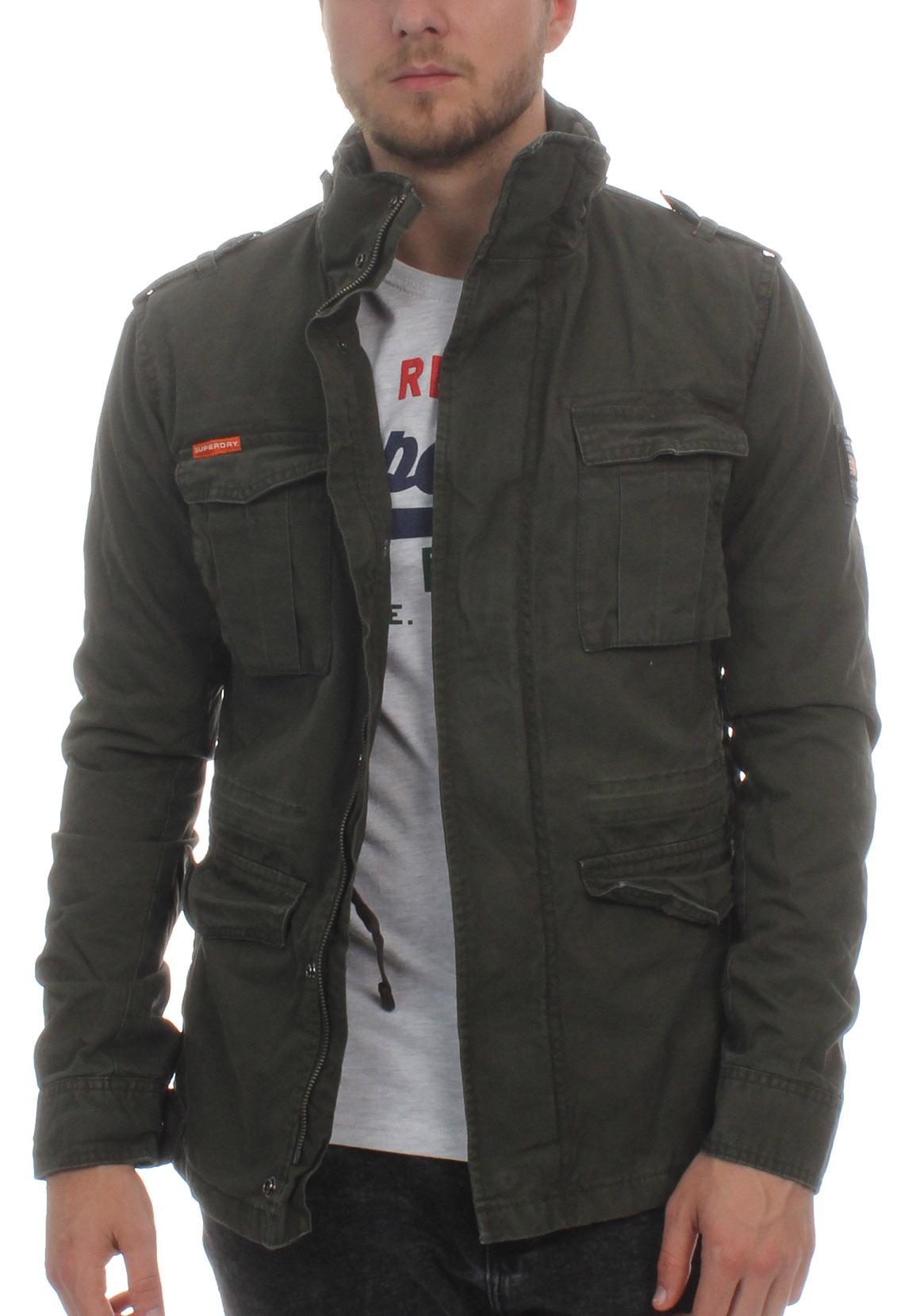 brand new eeedf 562c1 Details zu Superdry Jacke Herren CLASSIC ROOKIE MILITARY Military Khaki