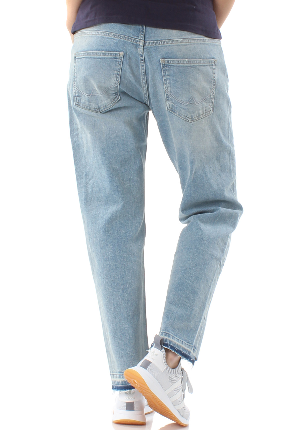 Superdry Jeans Damen RILEY GIRLFRIEND JEANS Cover Blue