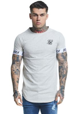 SikSilk T-Shirt TECH TEE SS-14083 Snow Marl