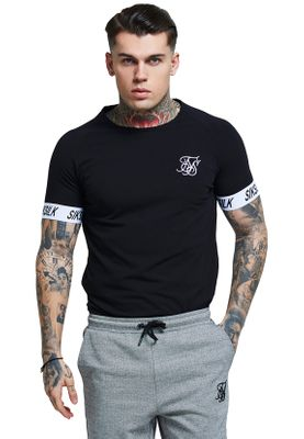 SikSilk T-Shirt TECH TEE SS-14081 Black – Bild 0