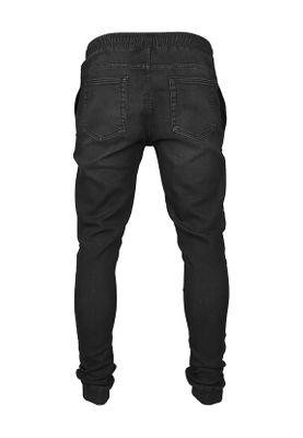 Urban Classics Biker Denim Jogpants TB1877 Black Washed – Bild 1