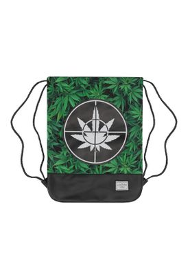 Cayler & Sons Gymbag DEFEND YOUR CROPS Green Leaves Black – Bild 0