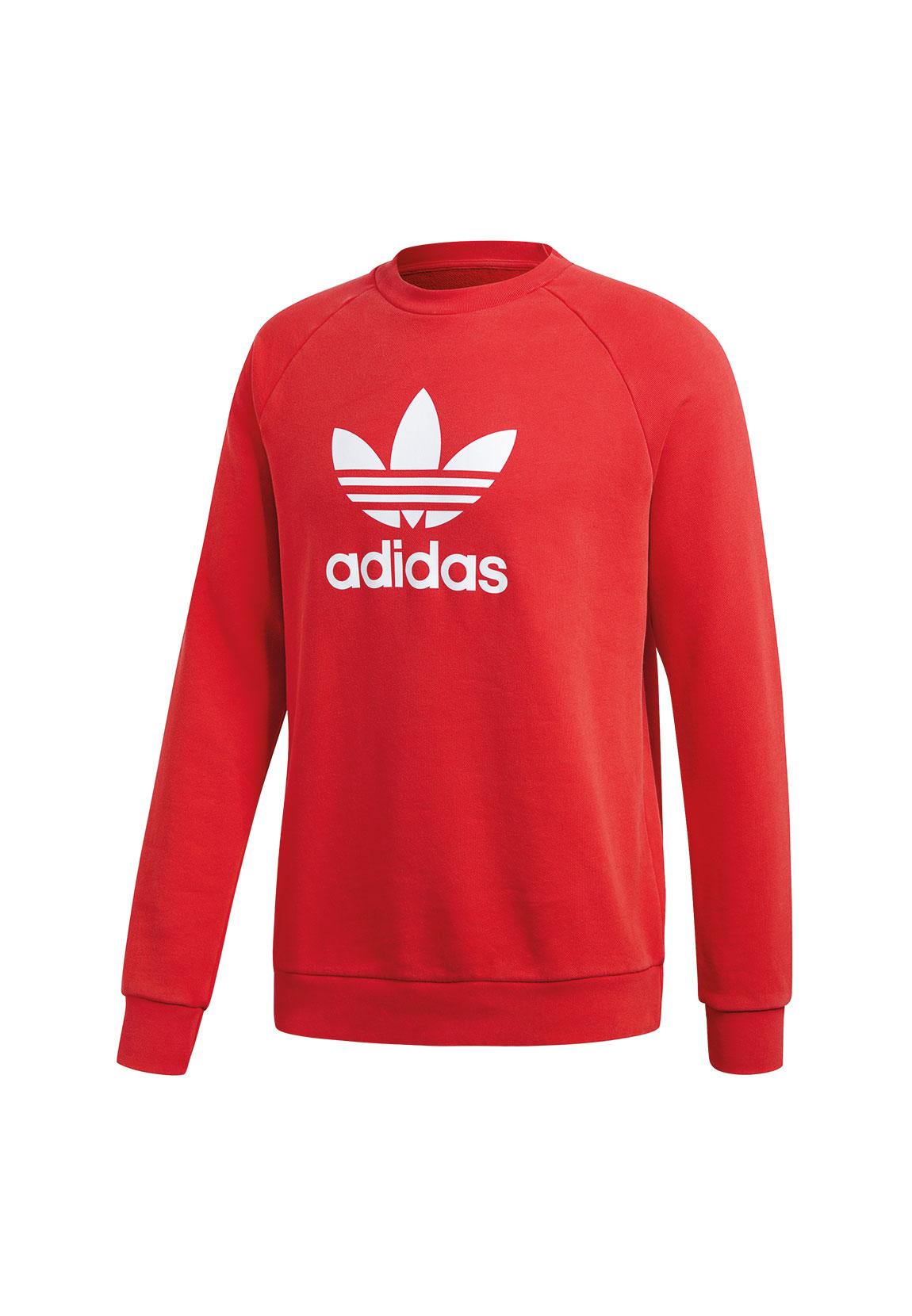 Herren sweatshirt adidas Originals Trefoil DM7835 | rot