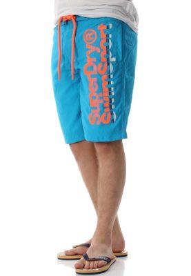 Superdry Badeshorts Herren SUPERDRY BOARDSHORT Ocean Blue – Bild 1
