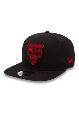 New Era NBA Chainstitch 9Fifty Snapback Cap CHICAGO BULLS Schwarz