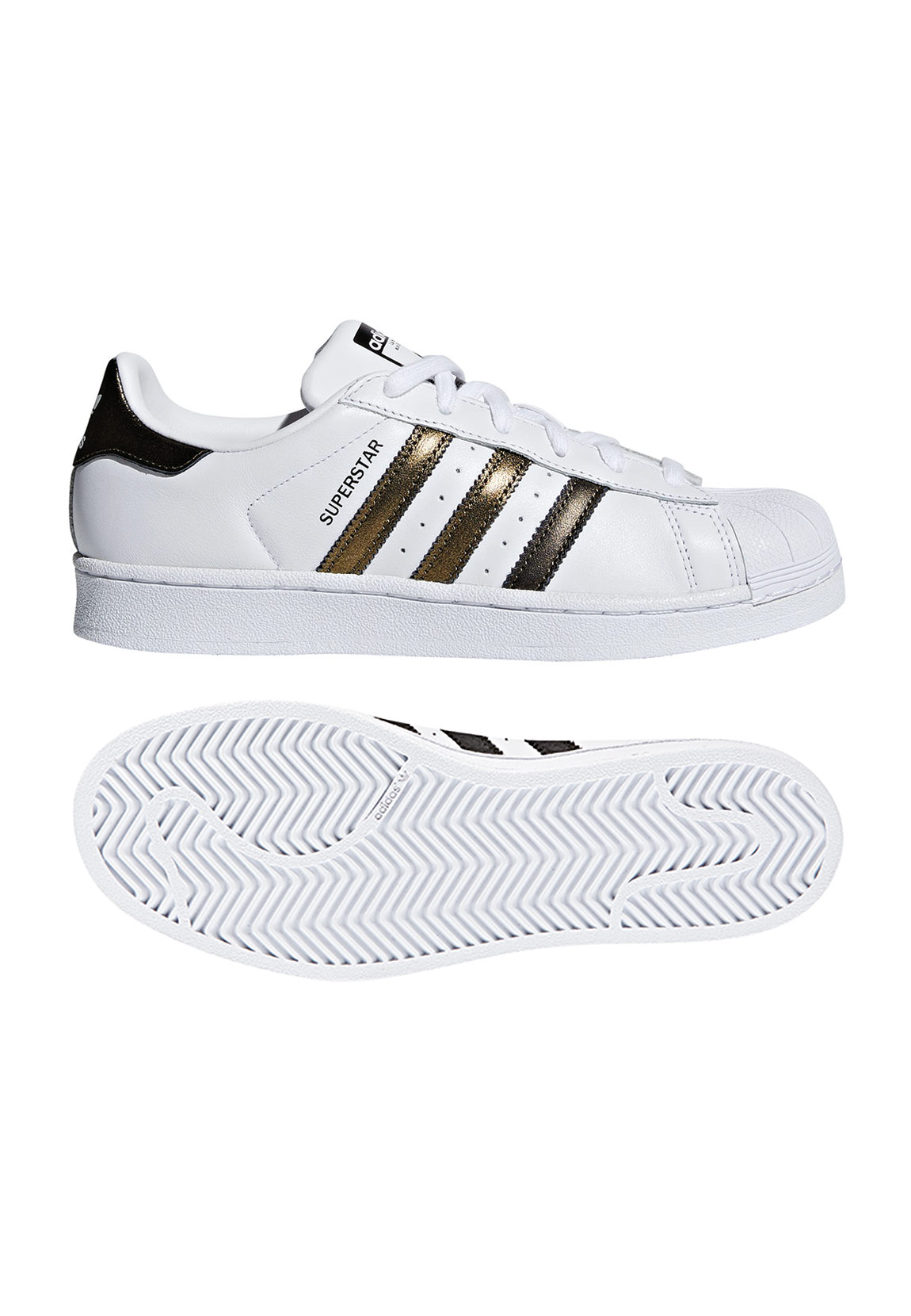 Adidas Originals Sneaker Damen SUPERSTAR W B41513 Weiß Gold