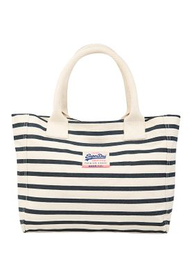 Superdry Tasche KENDALL BEACH TOTE Optic Navy Stripe