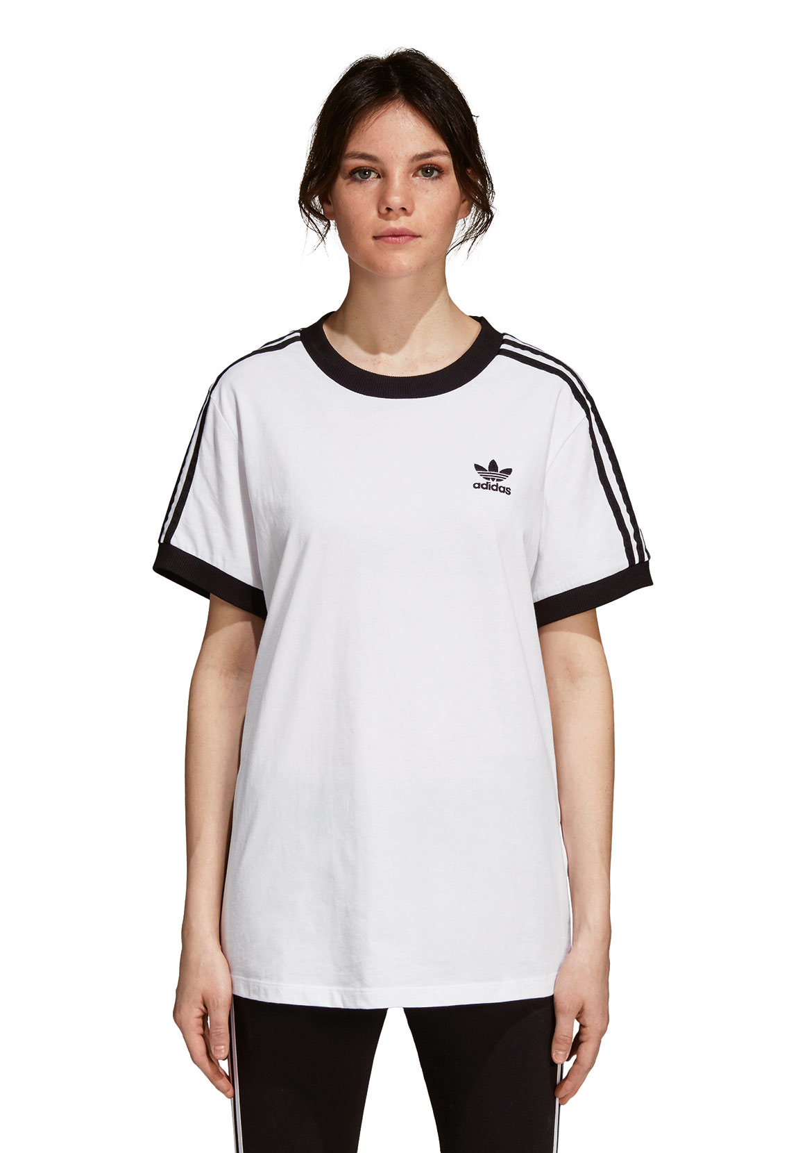 f5cca1a8712a Adidas Originals Damen T-Shirt 3 STRIPES TEE DH3188 Weiß Damen T ...