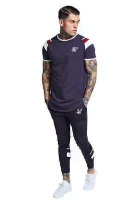 SikSilk T-Shirt GYM TEE SS-13073 Navy  – Bild 2
