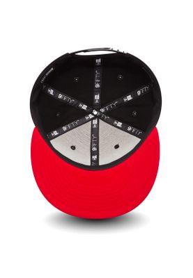 New Era Black Base 9Fifty Snapback Cap CHICAGO BULLS Schwarz Rot – Bild 3