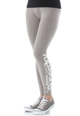 Superdry Damen Leggings LARGE LOGO LEGGING Grey Grindle – Bild 1