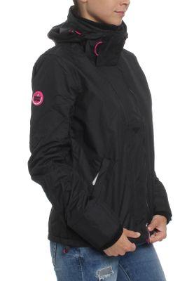 Superdry Damen Jacke ARCTIC HOODED POP ZIP WINDCHEA Black Rasberry – Bild 1