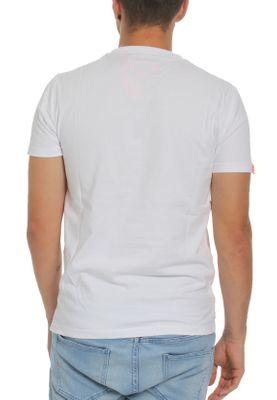 Superdry Herren T-Shirt ORANGE LABEL VNTGE EMB SS TEE Optic White Weiß – Bild 1