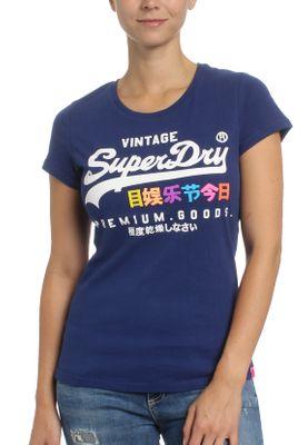 Superdry Damen T-Shirt PREMIUM GOOD PUFF ENTRY TEE Supermarine Navy  – Bild 0