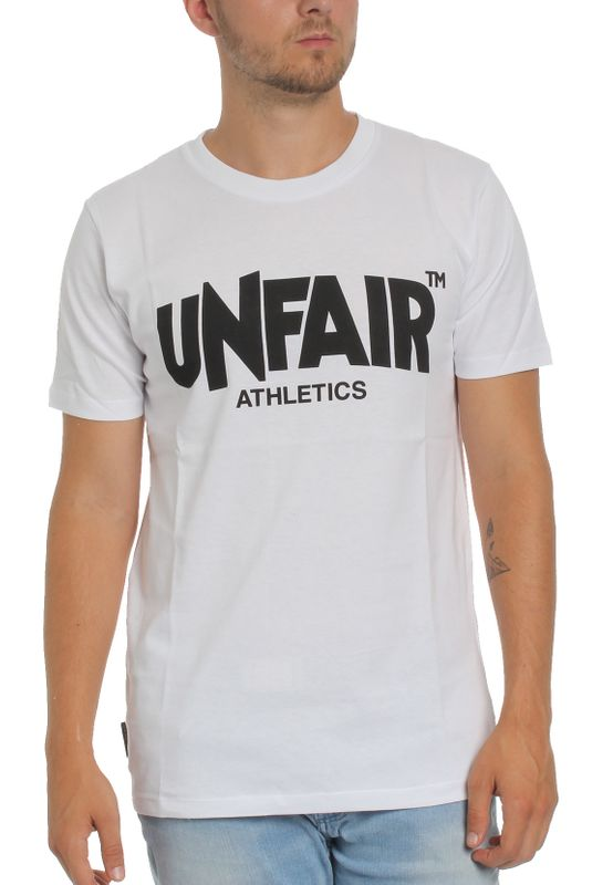 Unfair Athletics Herren T-Shirt CLASSIC LABEL UNFR18-002 Weiß White – Bild 0