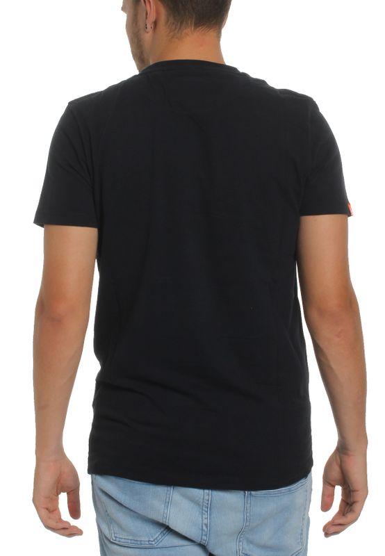 Superdry Herren T-Shirt O L VINTAGE EMB SS VEE TEE Eclipse Navy Dunkelblau – Bild 1