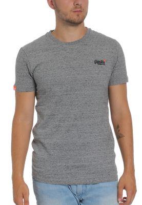 Superdry Herren T-Shirt ORANGE LABEL VNTGE EMB SS TEE Steel Grit Grau – Bild 0