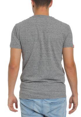 Superdry Herren T-Shirt ORANGE LABEL VNTGE EMB SS TEE Steel Grit Grau – Bild 1