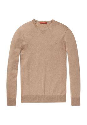 Scotch & Soda Pullover Men CLASSIC COTTON MELANGE CREWNECK 145570 Camel Melange 0760 Beige