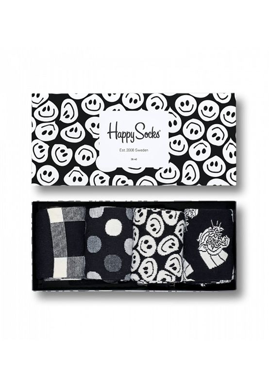 Happy Socks Geschenkbox BLACK WHITE GIFT BOX XBLW09-9003 Anthrazit – Bild 0
