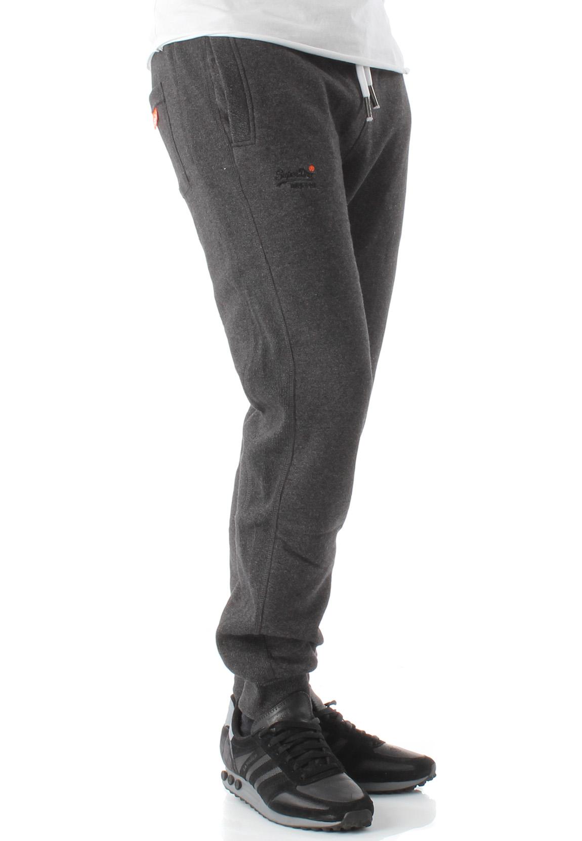 check out 98507 73fb5 Details about Superdry Jogginghose Men Orange Label Cuffed Jogger Low Light  Black Grit