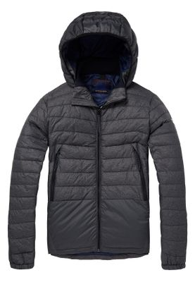 Scotch & Soda Jacke Herren BASIC PUFFER 145203 Black Melange 0686 Grau
